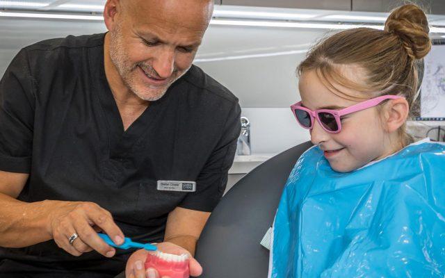 Dr Stefan with a Patient